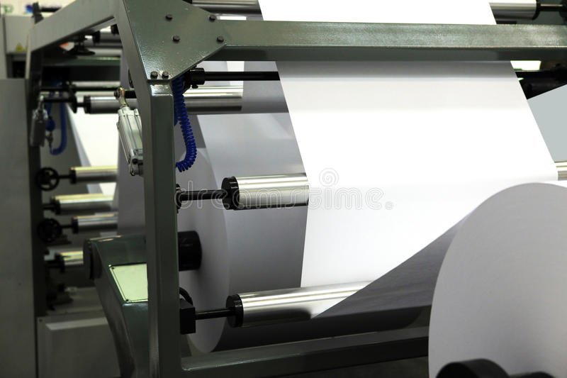 Grote compensatieaf:drukken machine stock fotografie