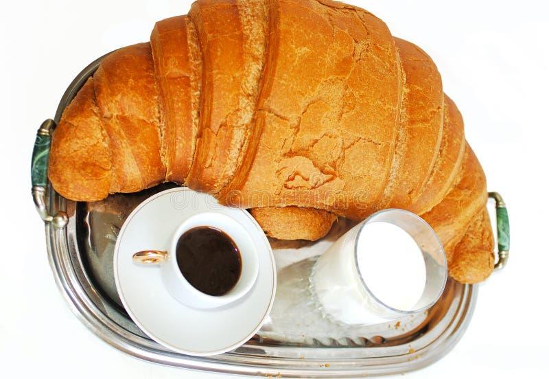Grote Croissant Royalty-vrije Stock Afbeelding