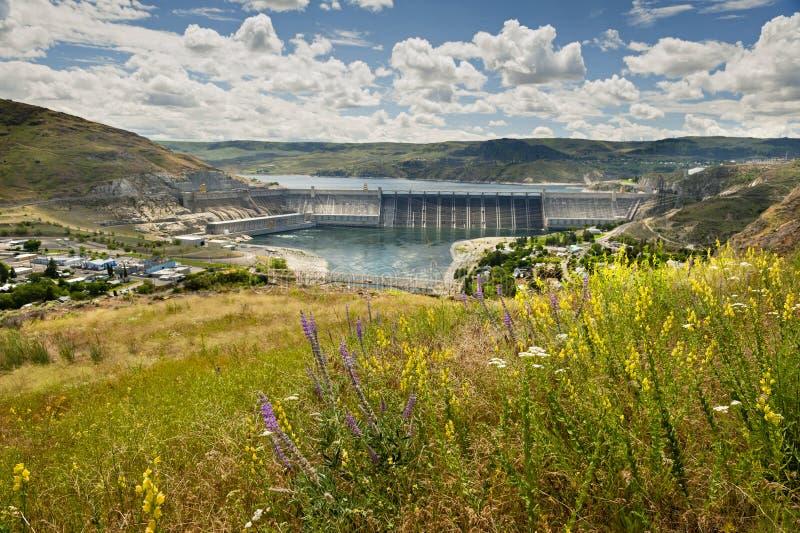 Grote Dam Coulee royalty-vrije stock afbeeldingen