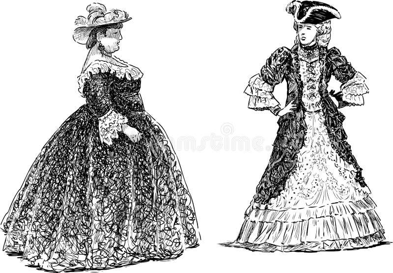 Grote dames vector illustratie