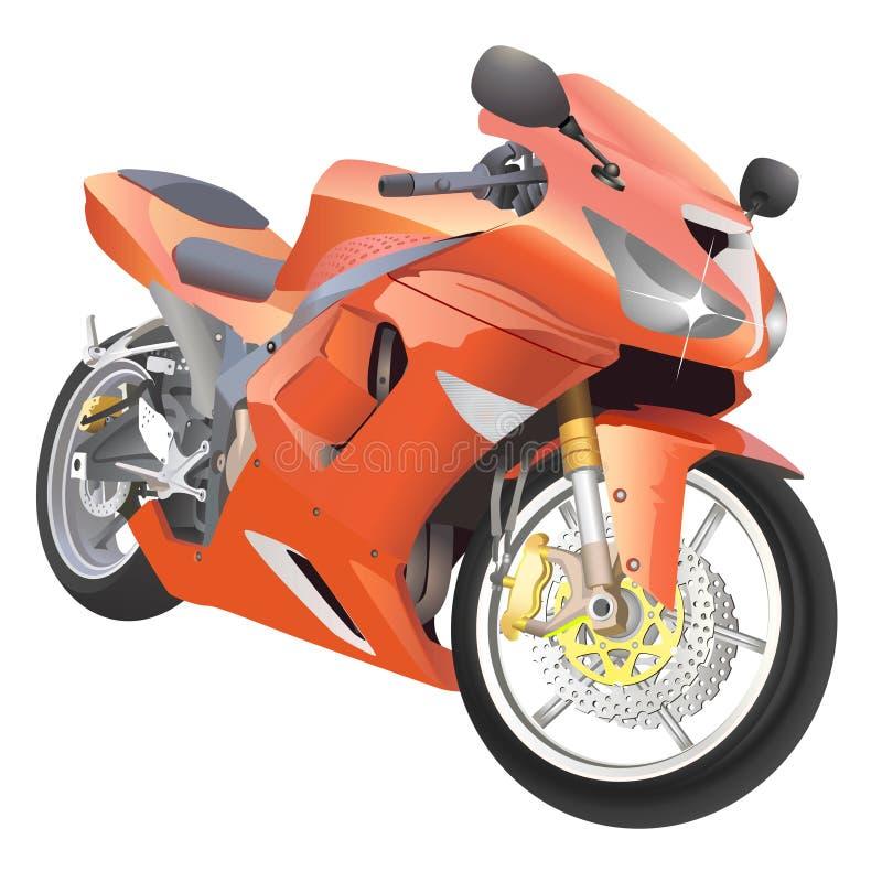 Grote de detailsvector van de motorfiets royalty-vrije illustratie