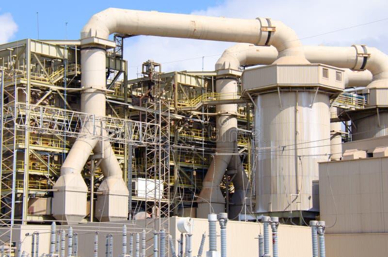 Grote de industrie industriële elektrische centrale stock afbeelding