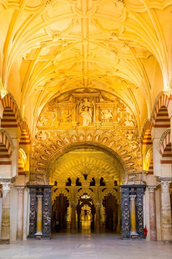 Grote de Moskeekathedraal van Cordoba stock afbeeldingen
