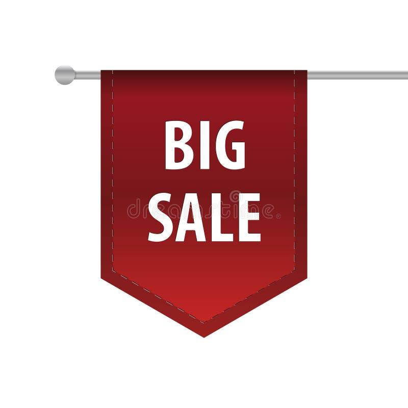 Grote de referentiemarkering van het verkoop verticale lint Vector royalty-vrije illustratie