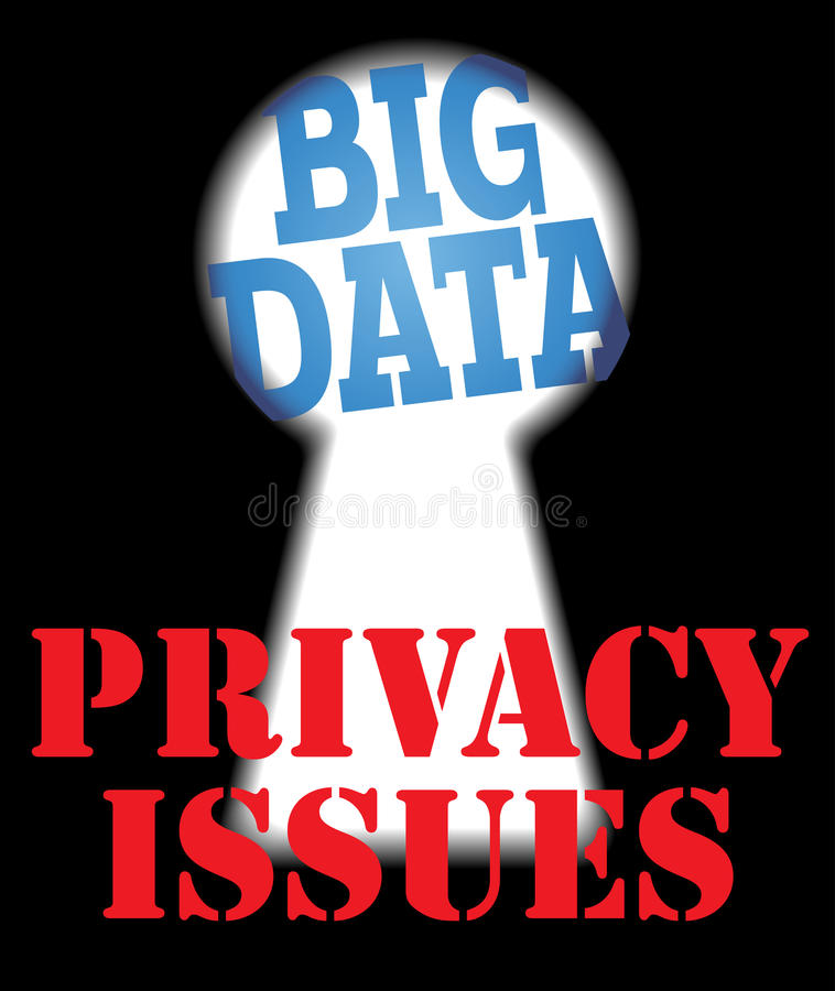 Grote de veiligheidsit van de Gegevensprivacy kwesties royalty-vrije illustratie