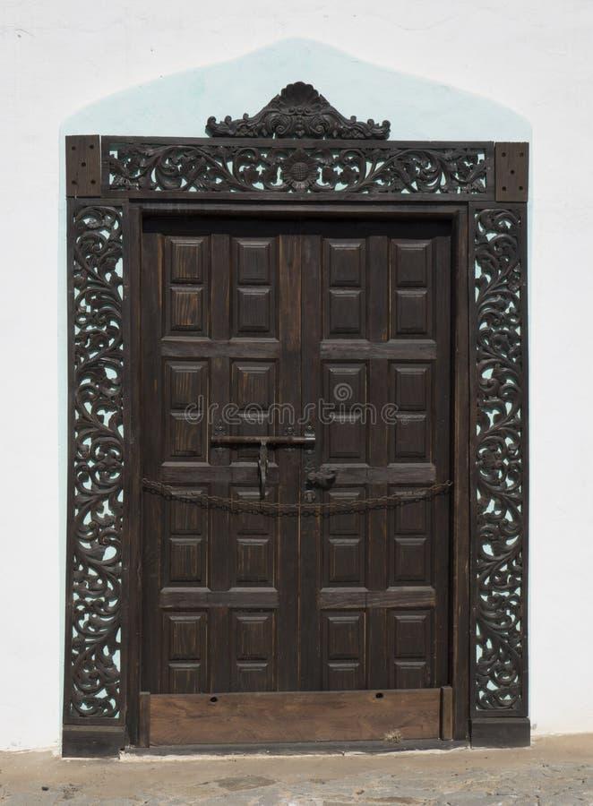 Grote deur in de Canarische Eilanden Las Palmas Spanje van Fuerteventura royalty-vrije stock foto