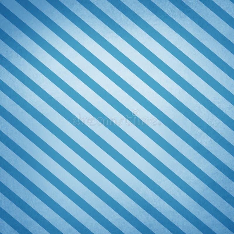 Grote diagonale strepen op blauwe abstracte achtergrond met oude textuur stock illustratie