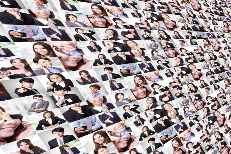 Grote die collage door Bedrijfsmensengroep wordt gemaakt royalty-vrije stock afbeeldingen