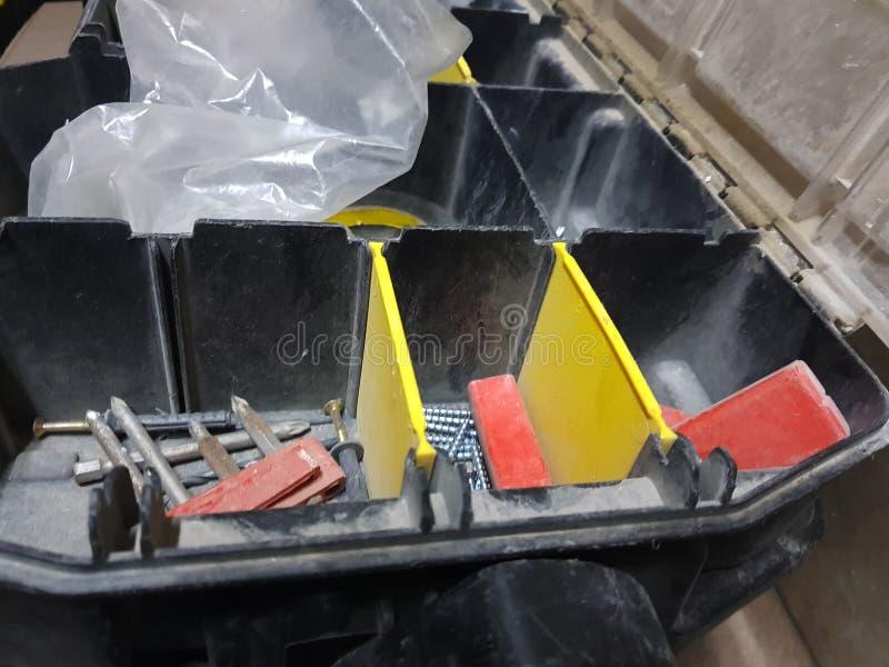 Grote doos voor professionele de bouwhulpmiddelen stock foto