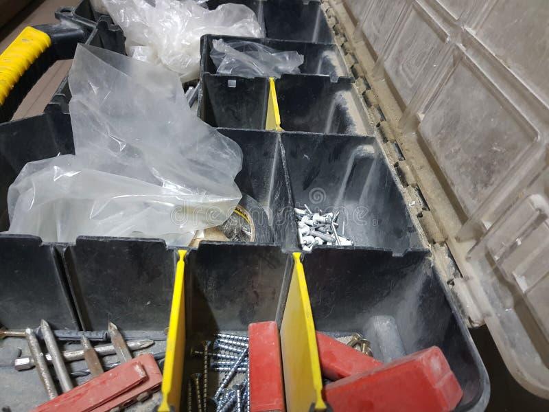 Grote doos voor professionele de bouwhulpmiddelen stock foto's