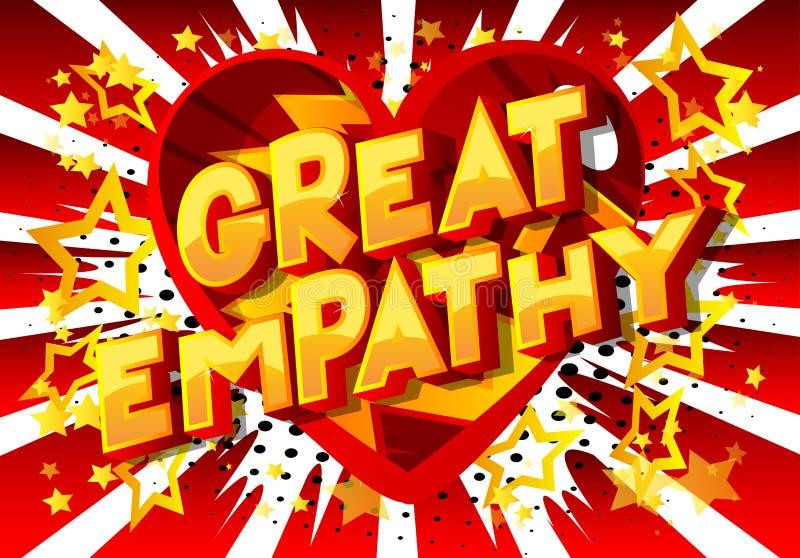 Grote Empathie - de Grappige woorden van de boekstijl royalty-vrije illustratie