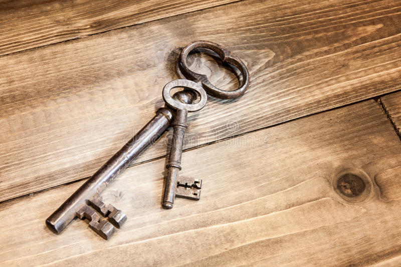 Grote en kleine sleutels royalty-vrije stock afbeelding
