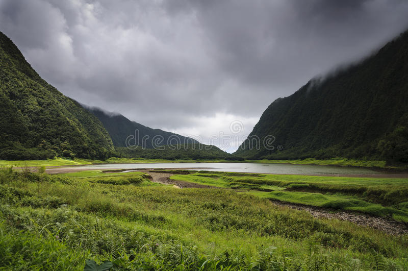 Grote Etang, Ile DE La Réunion stock foto
