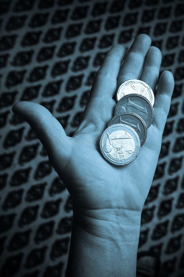 Grote Euro muntstukken stock fotografie