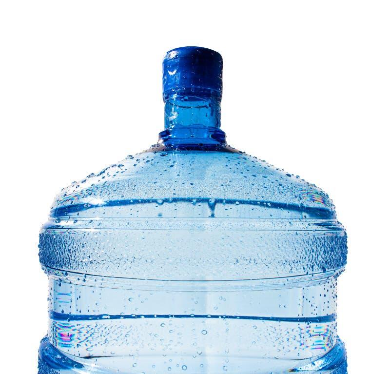 Grote fles geïsoleerd water stock foto