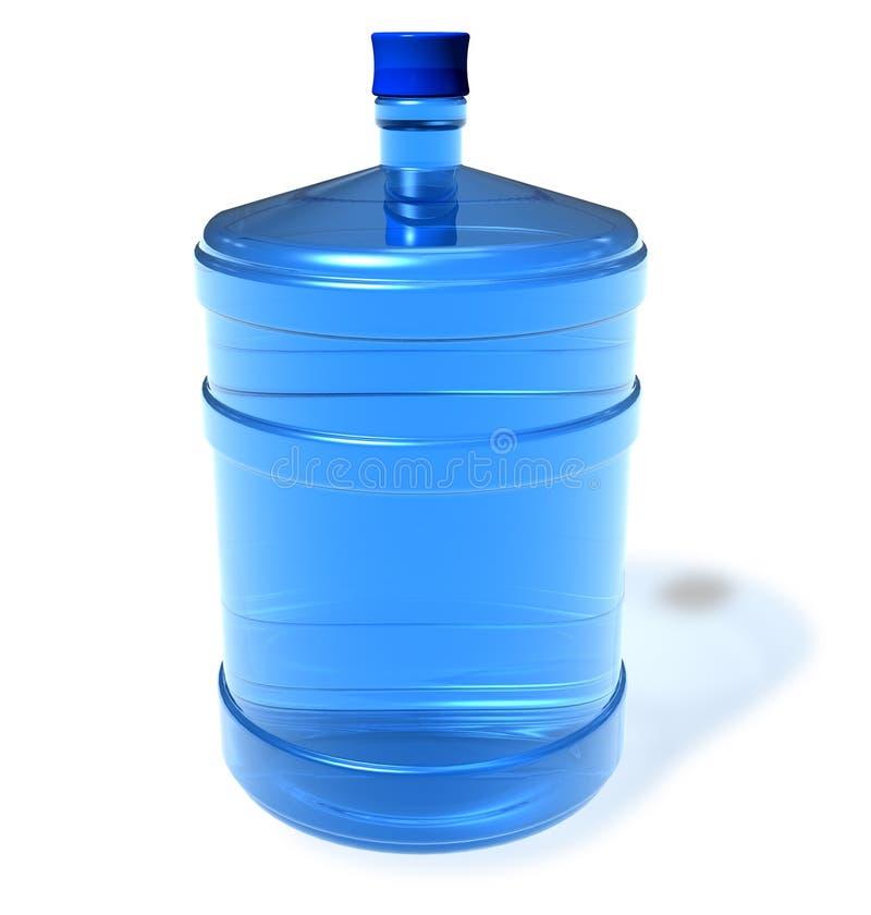 Grote fles water royalty-vrije illustratie