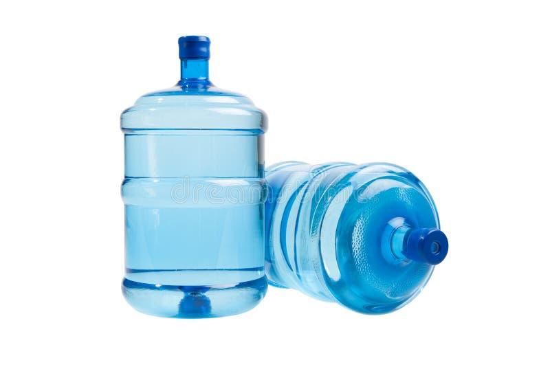 Grote flessen water stock foto's