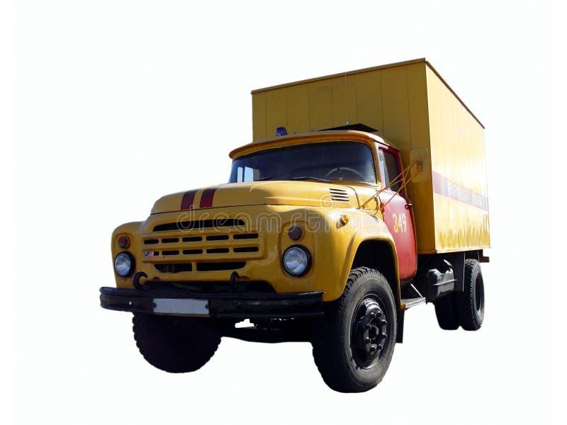 Grote geïsoleerde vrachtwagen royalty-vrije stock afbeeldingen