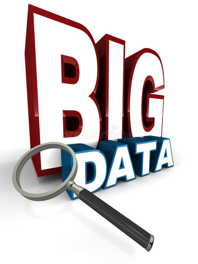 Grote gegevens stock illustratie