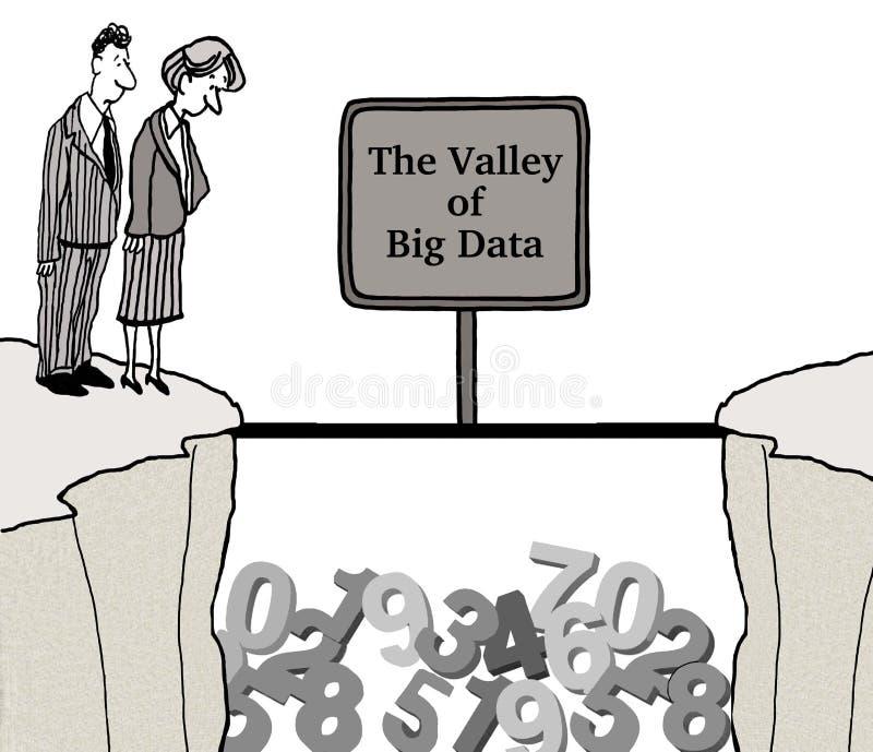 Grote Gegevens vector illustratie