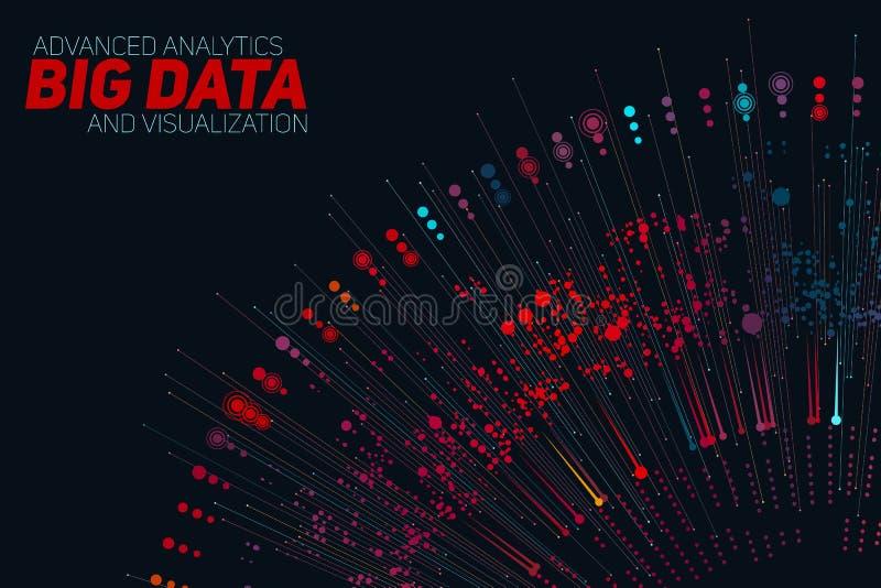 Grote gegevens cirkel kleurrijke visualisatie Futuristische infographic Informatie esthetisch ontwerp Visuele gegevensingewikkeld royalty-vrije illustratie