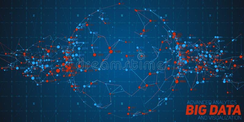 Grote gegevens cirkelvisualisatie Futuristische infographic Informatie esthetisch ontwerp Visuele gegevensingewikkeldheid complex vector illustratie