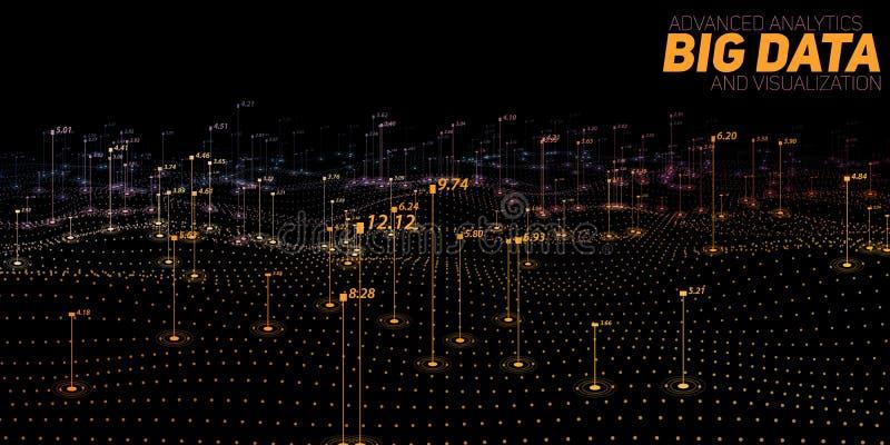 Grote gegevens kleurrijke visualisatie Futuristische infographic Informatie esthetisch ontwerp Visuele gegevensingewikkeldheid vector illustratie