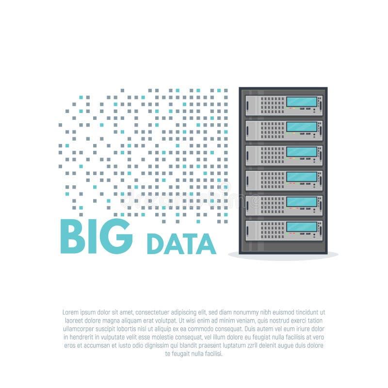 Grote gegevensbanner royalty-vrije illustratie