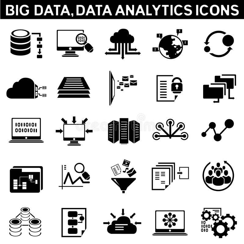 Grote gegevenspictogrammen royalty-vrije illustratie