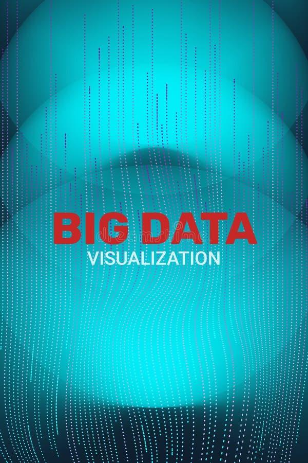Grote gegevensvisualisatie 3D Futuristische Informatie vector illustratie