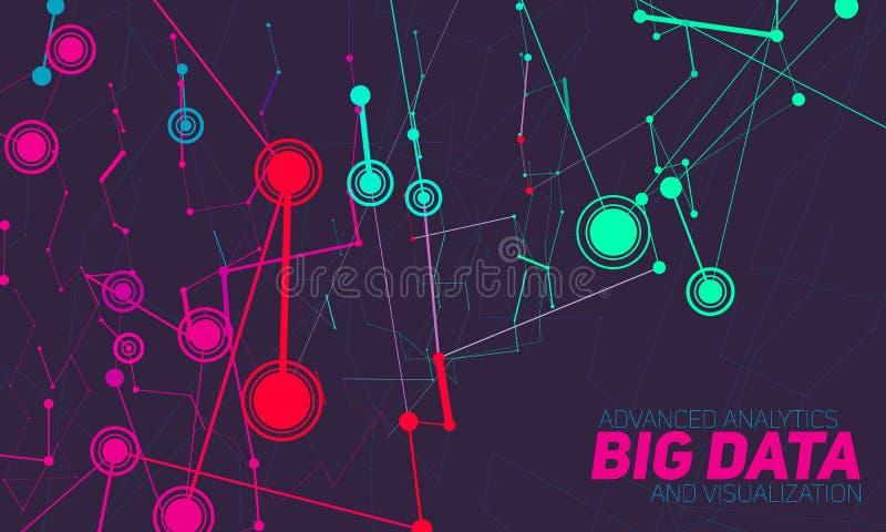 Grote gegevensvisualisatie Futuristische infographic Informatie esthetisch ontwerp Visuele gegevensingewikkeldheid vector illustratie