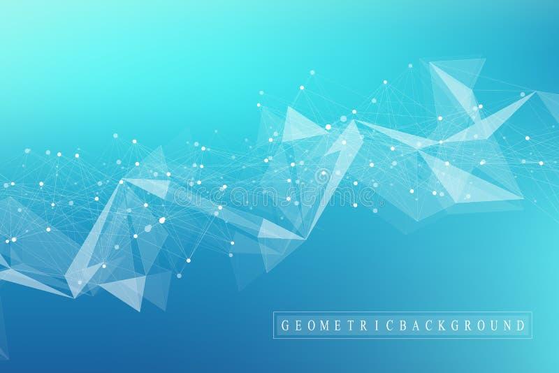 Grote gegevensvisualisatie Kunstmatige intelligentie en Machine het Leren Concept Grafische abstracte mededeling als achtergrond vector illustratie