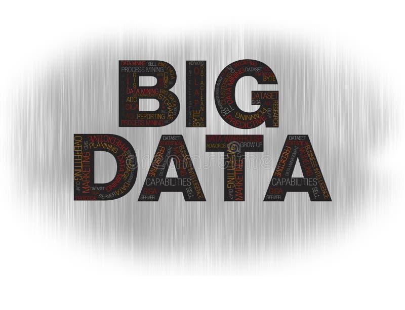 Grote gegevenszwarte stock illustratie