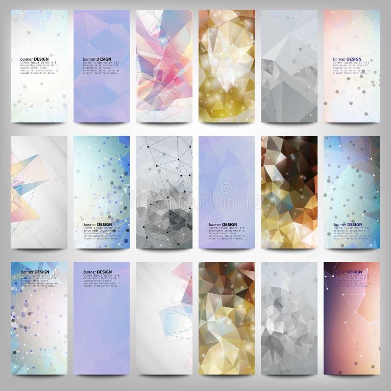 Grote gekleurde abstracte geplaatste banners Conceptueel vector illustratie