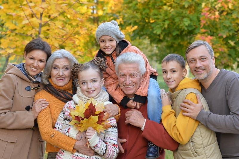 Grote gelukkige familie royalty-vrije stock foto