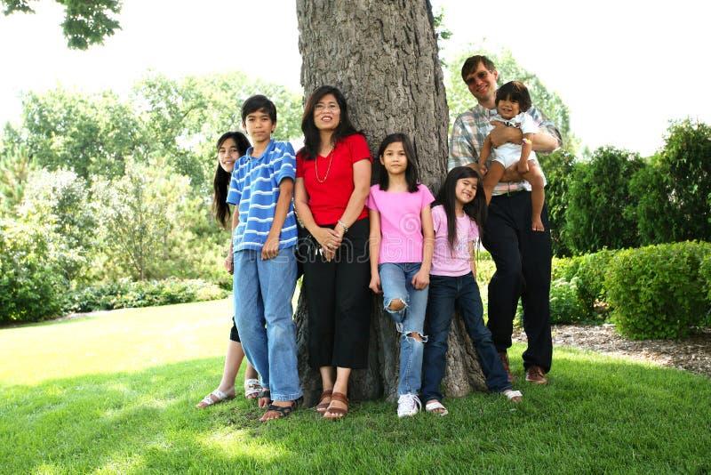 Grote gelukkige familie royalty-vrije stock afbeeldingen