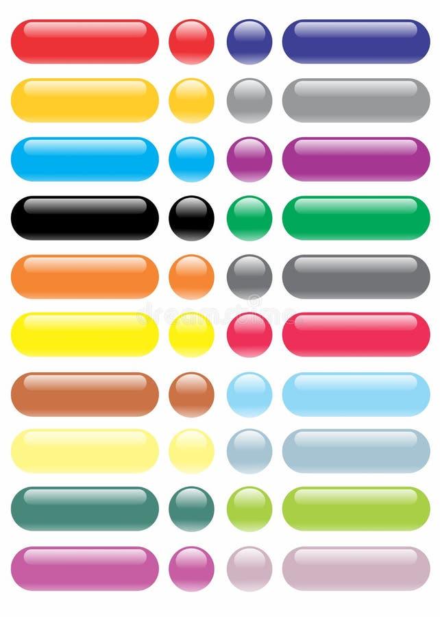 Grote Glanzende Bodeminzameling/Volledige Kleur stock illustratie