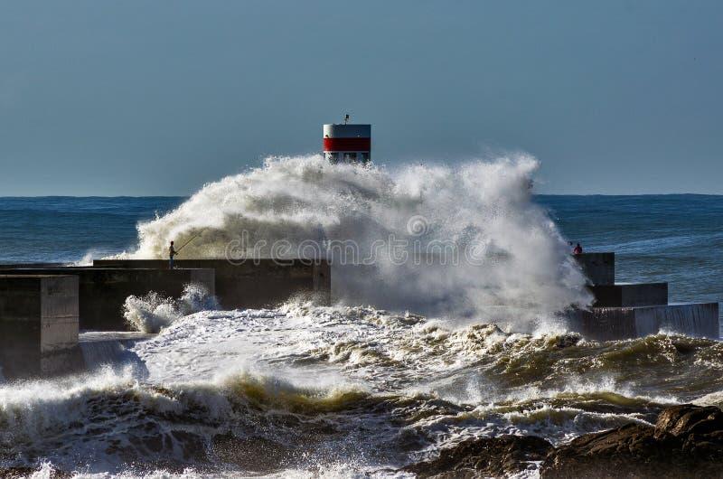 Grote golven stock fotografie