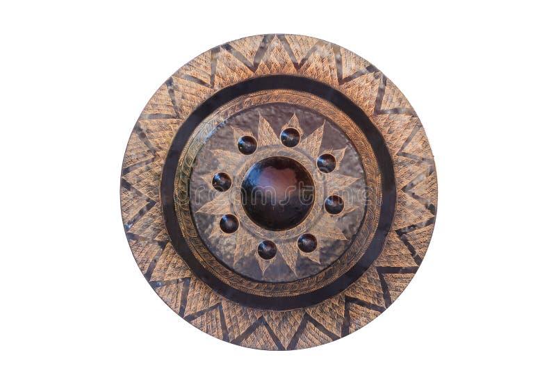 Grote Gong op geïsoleerd wit stock afbeeldingen