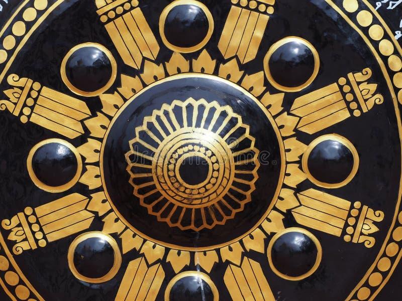 Grote gong in tempel royalty-vrije stock foto's