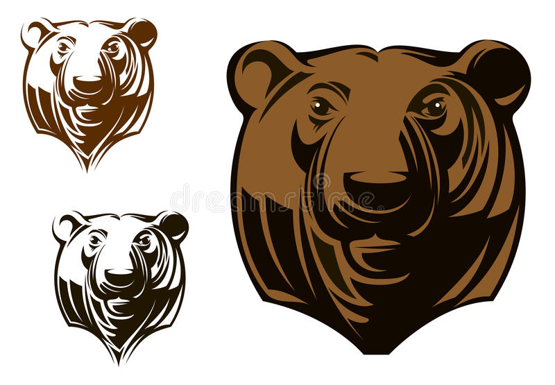 Grote grizzly vector illustratie