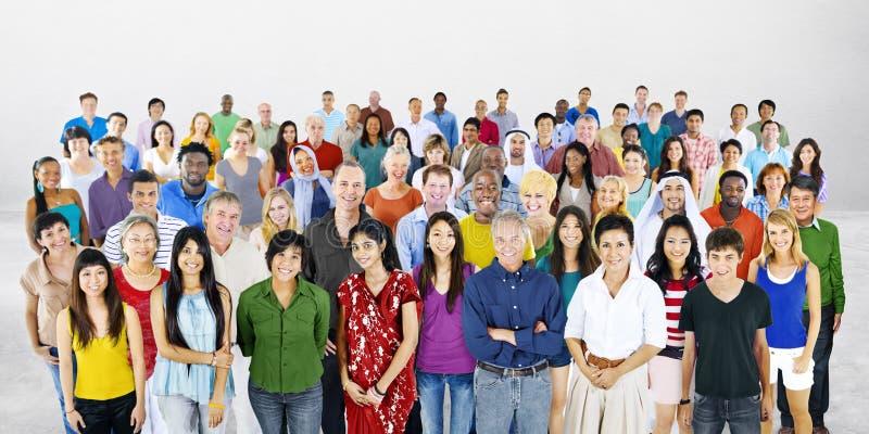 Grote groep het Multi-etnische Concept van de mensendiversiteit royalty-vrije stock fotografie