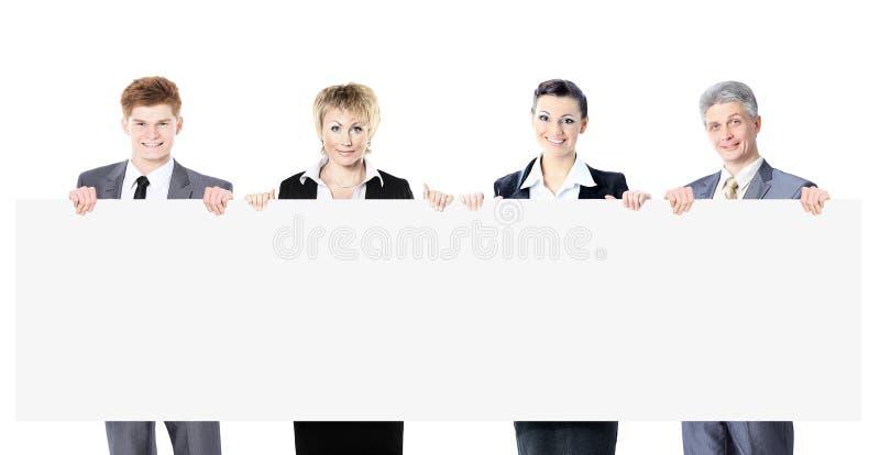 Grote groep jonge glimlachende bedrijfsmensen Witte achtergrond royalty-vrije stock afbeelding