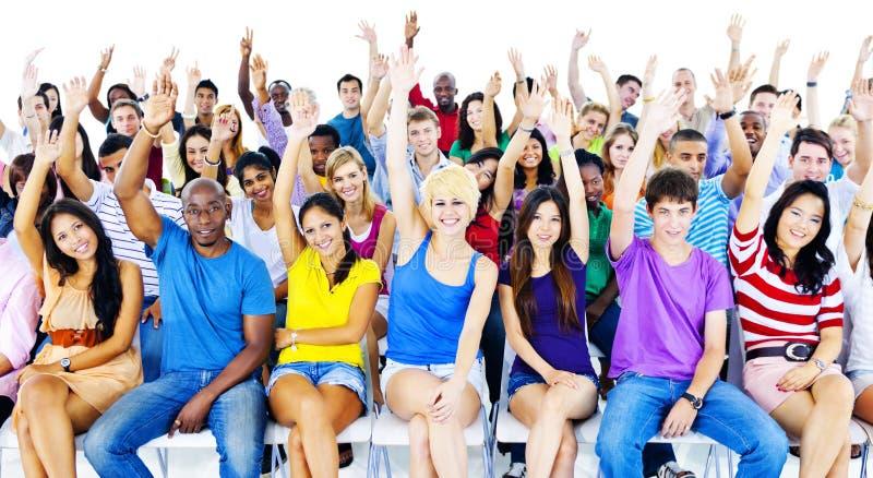 Grote Groep Student in het Conferentiezaal Concept stock fotografie