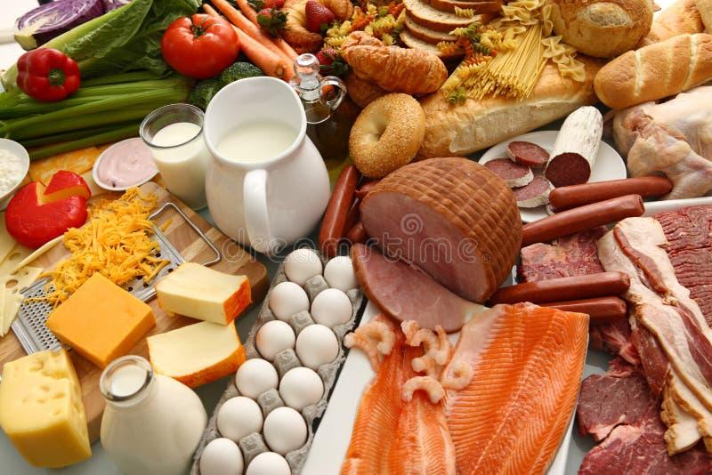 Grote groep voedsel royalty-vrije stock foto's