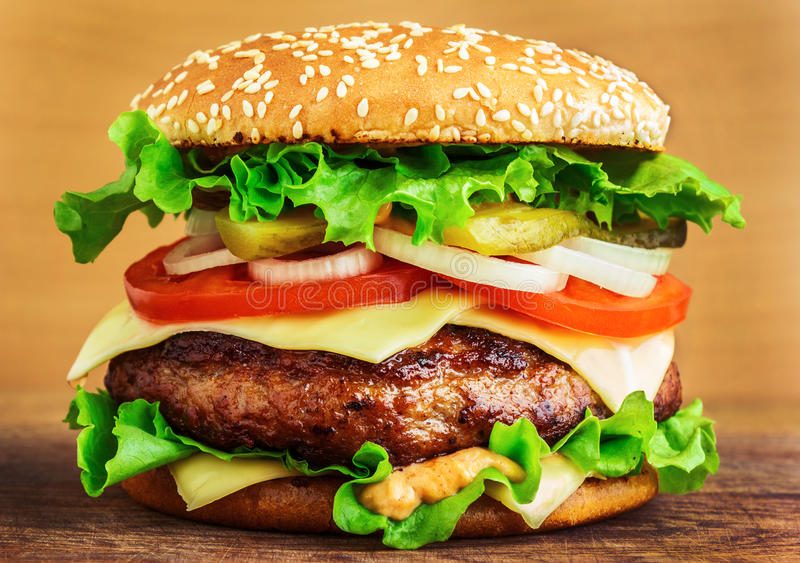 Grote hamburger stock fotografie