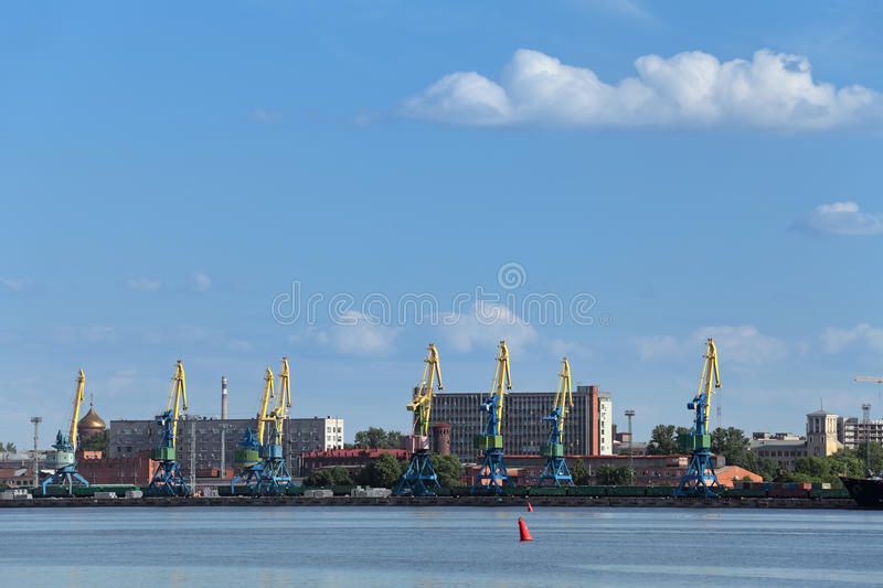 Grote haven Heilige Petersburg stock foto