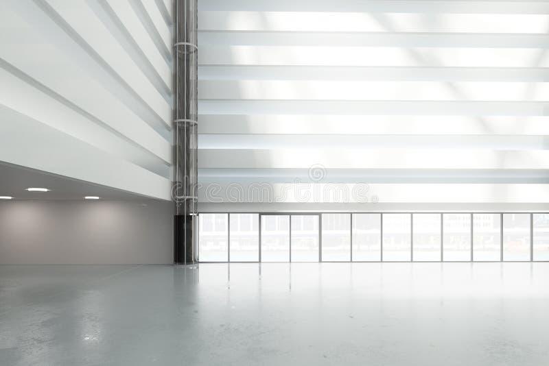 Grote, heldere zaal in het commerciële centrum royalty-vrije illustratie