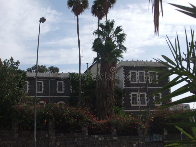 Grote herberg in Tiberias stock fotografie