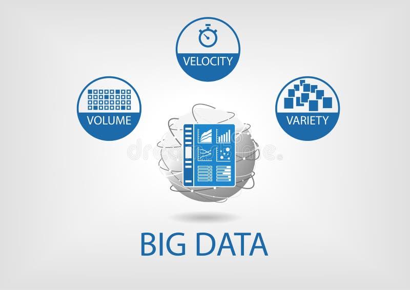 Grote het dashboardillustratie van gegevens digitale analytics vector illustratie
